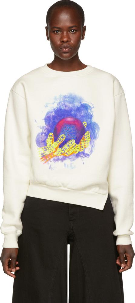 Off White White World Hand Spliced Sweatshirt