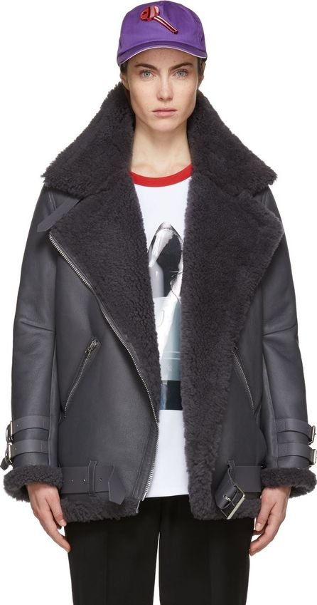 Acne Studios Grey Shearling Velocite Jacket