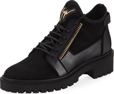 Giuseppe Zanotti Mixed-Media Hiker Ankle Boots