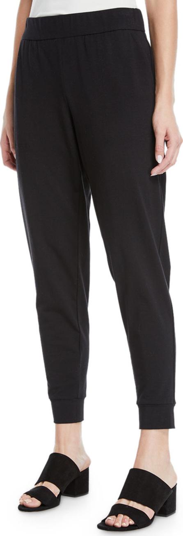 Eileen Fisher Slouchy Organic Cotton Jersey Pants