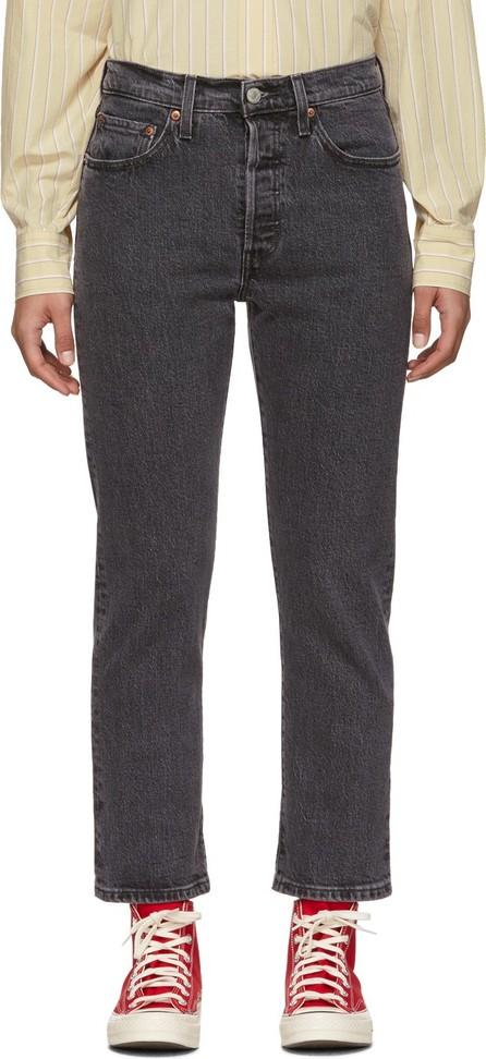 LEVI'S Black 501 Original Cropped Jeans