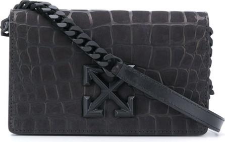 Off White Arrows motif crocodile-effect crossbody bag