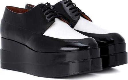 Robert Clergerie Lucie leather platform Derby shoes