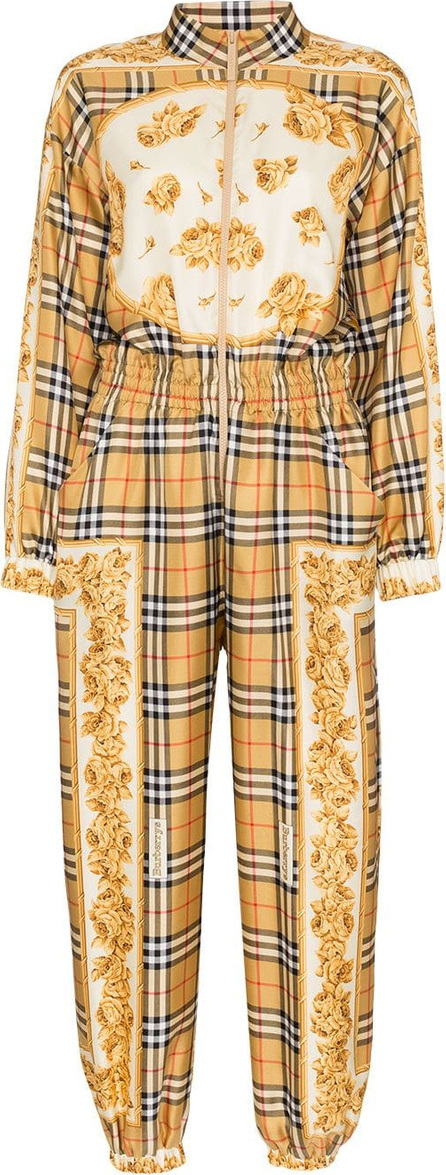 Burberry London England Silk check jumpsuit