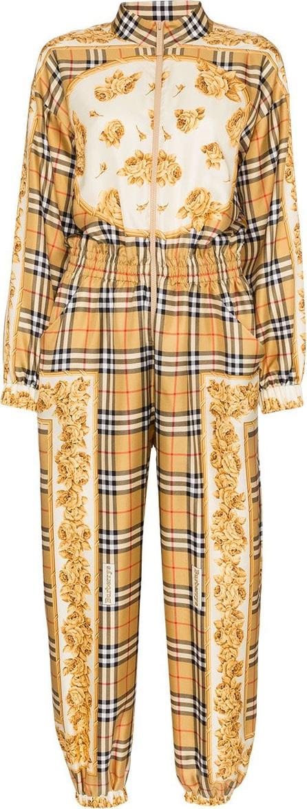 Burberry London England Silk check jumpsuit