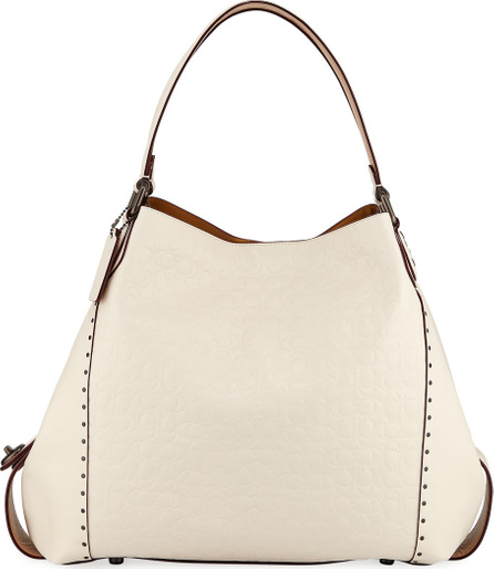 COACH 1941 Edie 42 Signature Leather Hobo Bag