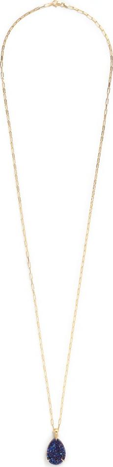 Niin 'Zayah Nocturna' drusy agate pendant necklace