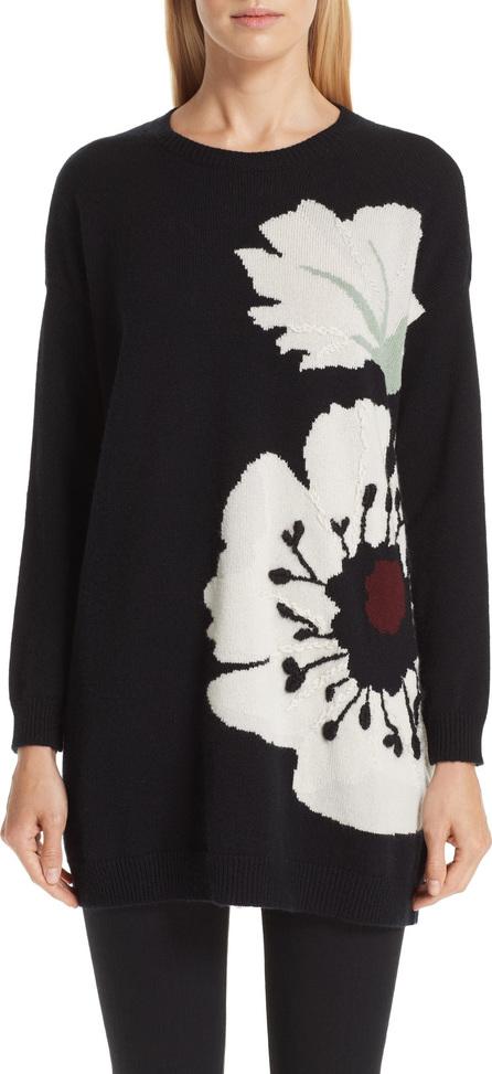 Valentino Cashmere Floral Intarsia Sweater