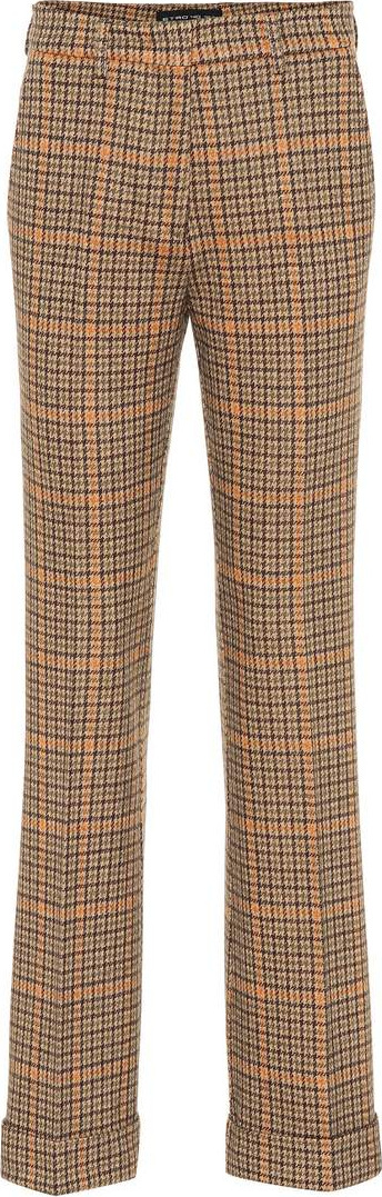 Etro Checked wool and cotton-blend pants