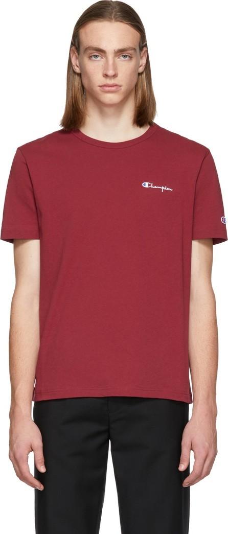 Champion Reverse Weave Burgundy Small Script Logo T-Shirt