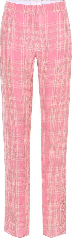 Victoria Beckham Plaid wide-leg trousers
