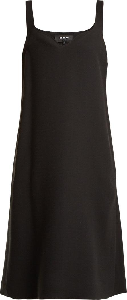 ROCHAS Sweetheart-neck crepe dress