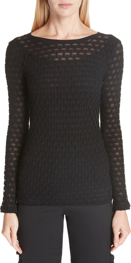 Fuzzi Long Sleeve Cutout Top