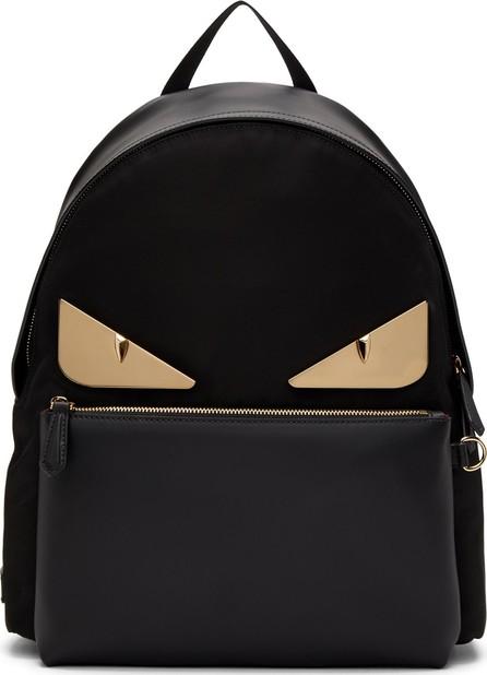 Fendi Black & Gold 'Bag Bugs' Backpack