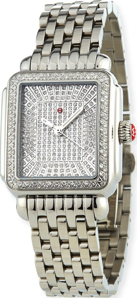 MICHELE Deco Ultimate Pave Diamond Watch, Limited Edition