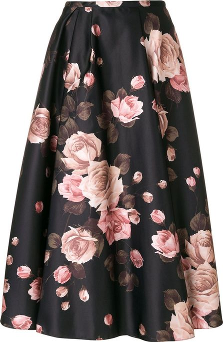ROCHAS floral print pleated skirt