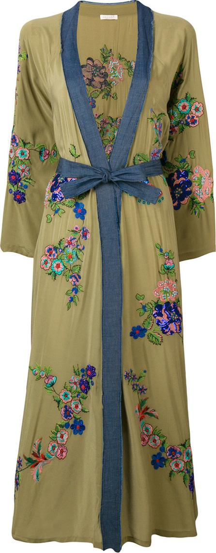 Anjuna Embroidered tie waist kimono