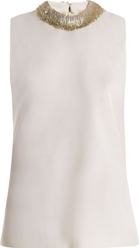 Goat Fig bead-embellished sleeveless wool top