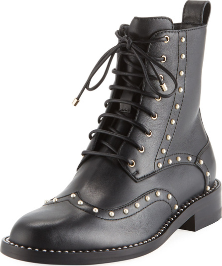 Jimmy Choo Hanah Studded Lace-Up Combat Boots