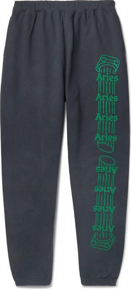 Aries Logo-Print Fleece-Back Cotton-Jersey Sweatpants
