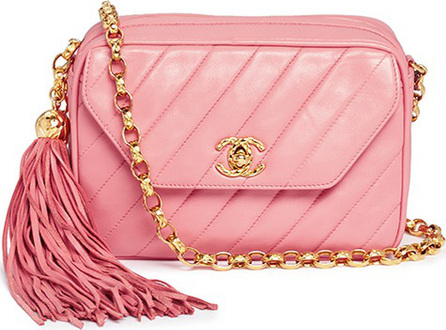 Vintage Chanel Quilted leather tassel chain bag