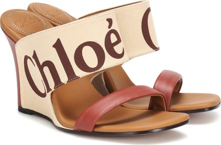 Chloe Canvas and leather wedges