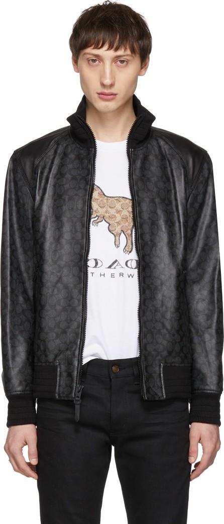COACH 1941 Black Leather Track Jacket