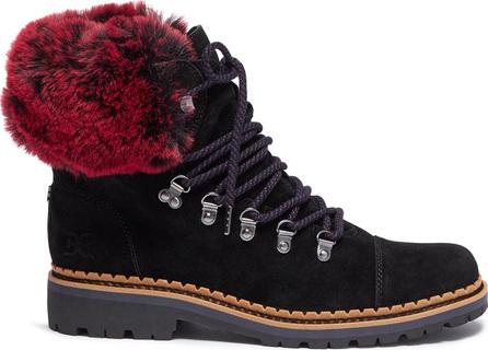 Sam Edelman 'Bowen' faux fur counter suede hiking boots