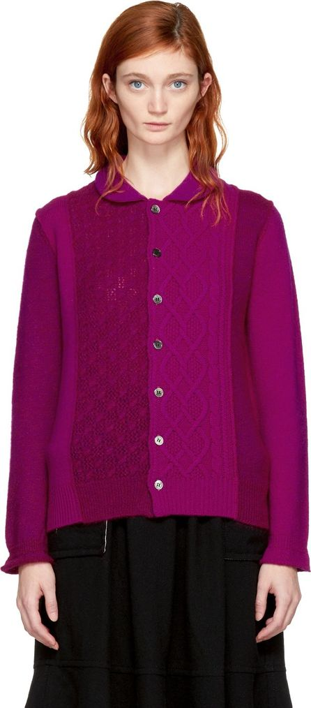 Tricot Comme des Garçons Pink Multi Knit Cardigan