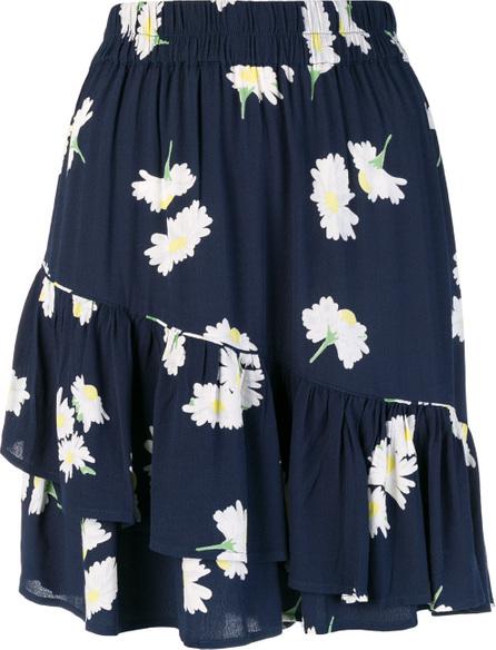Ganni Floral asymmetric skirt