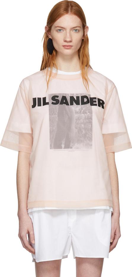 Jil Sander Pink Mesh Logo T-Shirt