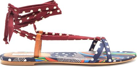 Gabriela Hearst Reeves graphic-print wraparound sandals