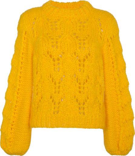 Ganni yellow Julliard knitted jumper
