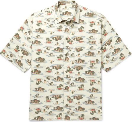Bottega Veneta Printed Cotton-Poplin Shirt