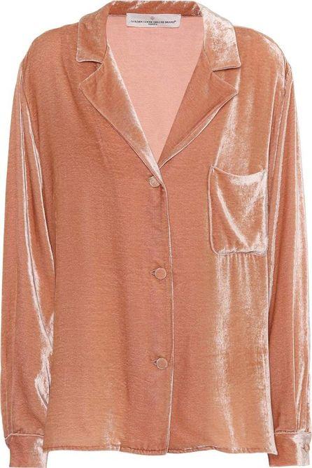 Golden Goose Deluxe Brand Franca velvet pyjama shirt