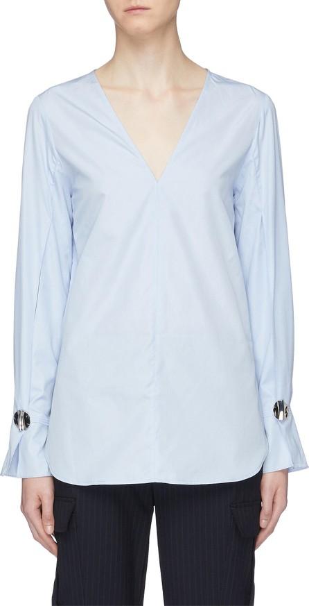 3.1 Phillip Lim Hammered button split sleeve poplin blouse