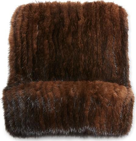 Belle Fare Mink Fur Knitted Beanie Hat