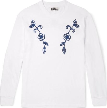 Blue Blue Japan Printed Cotton-Jersey T-Shirt