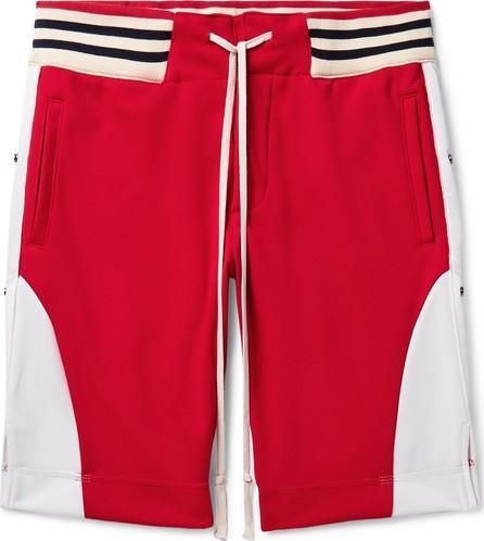 Greg Lauren Grosgrain-Trimmed Tech-Jersey Drawstring Shorts