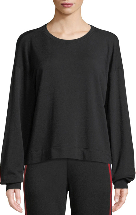 Velvet By Graham & Spencer Danica Striped Modal/Cotton Pullover Sweatshirt