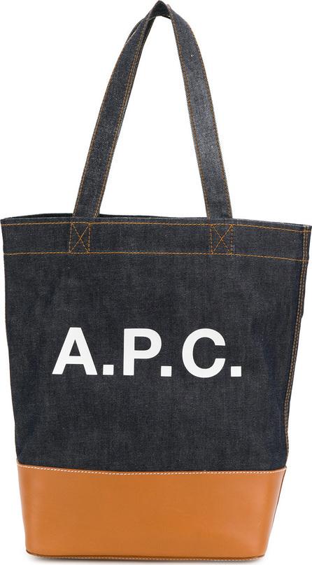A.P.C. Logo denim tote