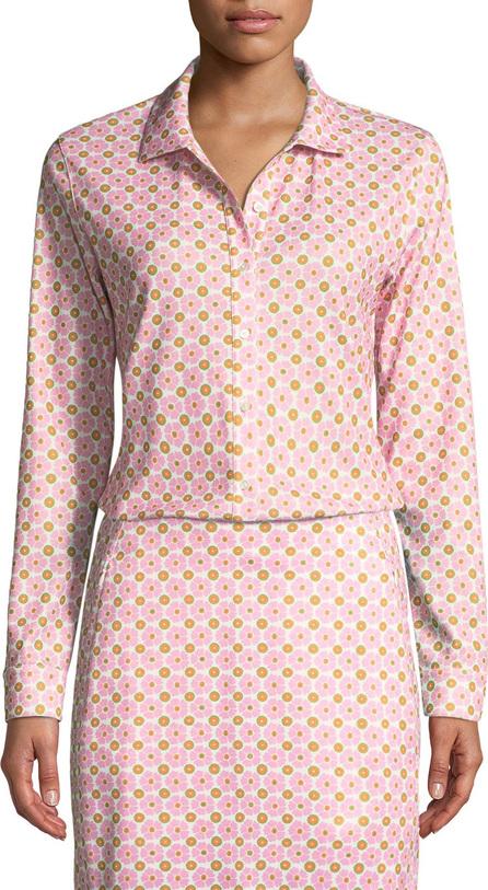 Tory Sport Printed Long-Sleeve Golf Shirt