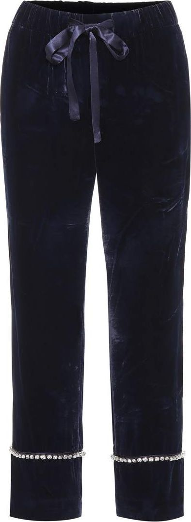 Gucci Velvet cropped trousers