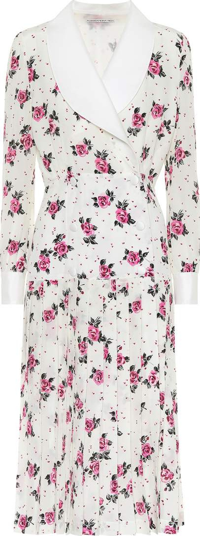 Alessandra Rich Floral-printed silk dress