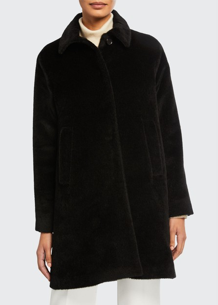 Jane Post Alpaca A-Line Classic Coat