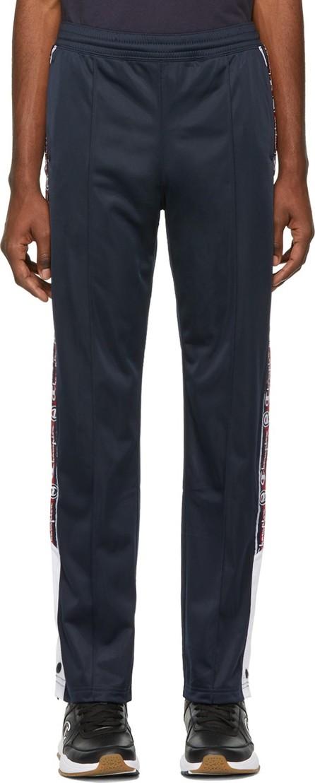 Champion Reverse Weave Navy Jacquard Logo Tape Popper Track Pants