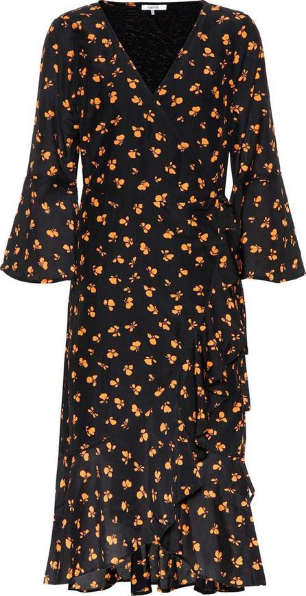 Ganni Beacon cotton and silk dress