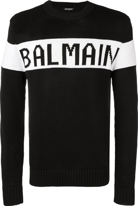 Balmain intarsia-knit jumper