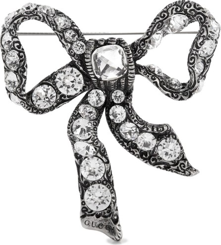 7c6c54e4a Gucci Crystal-embellished logo hair clip - Mkt