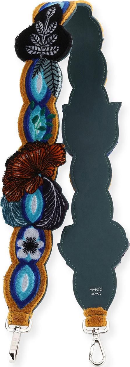 Fendi Strap You Embroidered Garden Shoulder Strap for Handbag